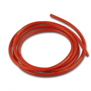 Cavo elettrico sez. 2,50 guaina rossa in silicone 1m  Art. RC600164