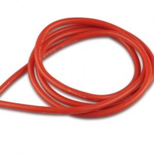 Cavo elettrico sez.4,00 guaina in silicone rosso 1m  Art. RC600166