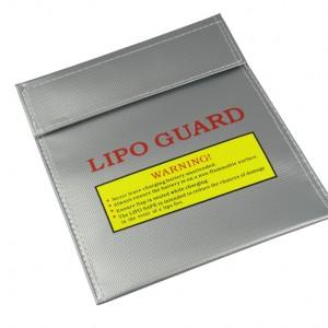 Sacchetto in materiale speciale per protezione batterie LiPo .